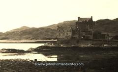 Not as old as it looks! (john shortland) Tags: eilean donan castle 1984 sepia scotland scottish loch kintail sea highlands