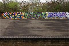 4ce / Enemo / Enta (Alex Ellison) Tags: 4ce force enemo enta eastlondon urban graffiti graff boobs trackside railway