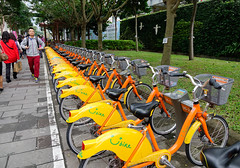 Bicycle rental service in Taipei, Taiwan (phuong.sg@gmail.com) Tags: action activity asia bicycle bike biking city colorful cycle cyclist day ecology exercise fun healthy leisure lifestyle network orange outdoor parking public recreation rent rental ride road row seat service smile sport station system taipei taiwan tourism transport transportation travel ubike urban vacation vehicle wheel yellow