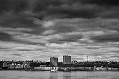 Edgawater, New Jersey from Upper West Side, New York City. (Gimo Nasiff) Tags: gimo nasiff photographer photography zhongyi mitakon focal reducer edgewater new york jersey nyc nj hudsonriver monochrome dramatic buildings waterfront nikkors50mmf14 nikkor 50mm sony a6000 ilce6000 manual focus lens travel panorama