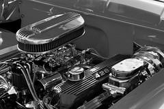 Clean 428 (Tim @ Photovisions) Tags: nebraska car monochrome auto engine blackandwhite carshow