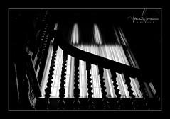 Staircase (Yvonne Warriner) Tags: blackandwhite blackwhite staircase spindles ballustrade