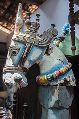 Painted Horse's Head Statue, Ambalangoda, Sri Lanka (Peter Cook UK) Tags: ambalangoda lanka head statue shop southern painted antiques horse sri hindu