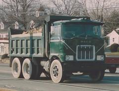 Mack F-model dump (PAcarhauler) Tags: mack cabover coe truck tractor trailer semi