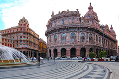 Piazza de Farrari ,Genoa ,Italy. (By Hayan) Tags: piazza de farrari genoa italy architecture travel canon7d