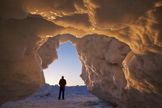 ice cave, lake superior