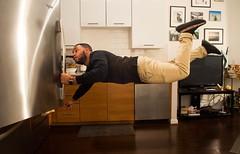 Fridge Floating (EDman0142) Tags: levitation photography levitate float yeezy 350 boost v2 copper black beard beardgang