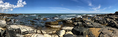 Rocky coast (Gabriel Paladino Photography) Tags: piriapolis costa coast ocean mar oceano turismo travel viaje viajar travelling visit rock roca playa beach nature sky cielo clouds nubes pano panoramica water iphone iphone7 puntacolorada rockycoast panorama uruguay maldonado iphone7plus gabrielpaladinoibañez