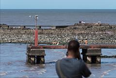 una escena, dos miradas (madelpi1950) Tags: costa seashore pdc dof niños children juegos playing dogs perros rocas rocks