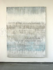 Bild_2059_blue_white_grey_fusion_185_140_2_cm_mixed_media_on_canvas_2017_studioview (ART_HETART) Tags: malerei leimwand contemporary art christianhetzel modern painting acrylbilder kunst kunstbilder abstrakt abstract texture textur structure