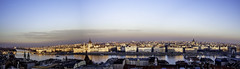 Panorama Budapest (^Michael Bischof^) Tags: beautiful urban landscape eos 5d 5ds canon photography big city life pano panorama capital hungary bridges river danube donau sunset sunrise colors clouds churches architecture world raw street voigtlander voigtländer ultron 40mm winter