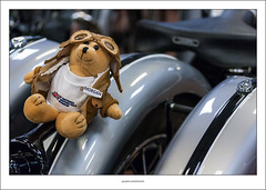 Morgan (G. Postlethwaite esq.) Tags: 3wheeled brough dof morgan nationalmotorcyclemuseum beyondbokeh bokeh depthoffield motorcyle photoborder selectivefocus teddybear