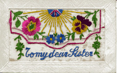 From WW1 France (mgjefferies) Tags: france postcard 1915 ww1 embroidered