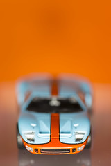 Race winning colour contrast - Gulf Ford GT40 - MM! (Boxgrove Photography) Tags: macro canoneos6d canon100mmmacro28 macromondays orangeblue fordgt40 gulf
