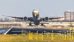 Jet Airways B777 (Green 14 Pictures) Tags: aviation avgeek avporn aircraft airport airplane air airlines airline airfield amsterdam ams airways boeing 777 777300er 77w boeing777 jetairways 9w jai jet schiphol thenetherlands holland aalsmeerbaan ge90 takeoff eham vtjew