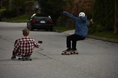 Jake filming some footage. (dylanbasham) Tags: 300mm d3400 d6000 nikon sony shred wheels hills skate northvan vanvouver speed longboarding