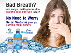 Are you looking forward to kissing your partner today? (SeaSaline - Herbal Oral Rinse and Mouthwash) Tags: badbreath seasaline herbalseasaline kissing partner
