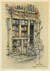 Anton Pieck- Bemin dan Amsterdam, 1948 ill  Spiegelstraat boekwinkel (janwillemsen) Tags: antonpieck amsterdam bookillustration 19451948
