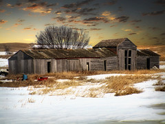 Storage sheds (mrbillt6) Tags: landscape northdakota rural prairie greatplains outdoors country countryside sheds buildings snow winter