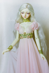 Rose Druid (AyuAna) Tags: bjd ball jointed doll dollfie ayuana design handmade ooak clothing clothes dress set historical fantasy style littlemonica chloe whiteskin