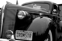 1937 Buick Roadmaster (ho_hokus) Tags: 1937buick 2012 greenwoodlakeairshow greenwoodlakeairport nj newjersey roadmaster usa westmilford airshow airport car carshow historiccar vintage vintagecar monochrome