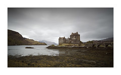 A Room with a View (Lindi m) Tags: scotland castle tidal eileandonancastle loch seaweed bridge sky clouds