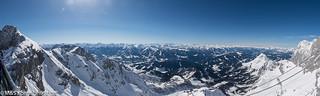 Alpenpanorama aufgenommen vom Dachstein - Alps panorama photographed from the Dachstein
