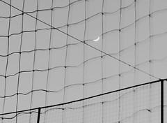 luna da legare (Ro_.) Tags: luna moon rete netting cielo sky bn geometrie astratto