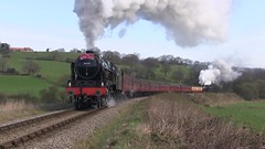 LMS No.46100 'Royal Scot' southbound at Esk Valley [NYMR] on 2nd April 2017 (soberhill) Tags: northyorkshiremoorsrailway nymr lms 46100 royalscot grosmont pickering railway steam train locomotive eskvalley 2017