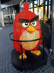 if you listen closely, you can hear the lego creak (soulfulpoignant) Tags: berlin germany german potsdamerplatz lego red angrybirds statue