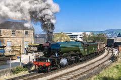 Keighley Scotsman (4486Merlin) Tags: 60103 england europe exlner flyingscotsman heritagerailways keighleyworthvalleyrailway lnerclassa3 northeast railways steam transport unitedkingdom westyorkshire keighley gbr