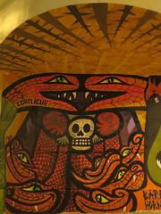 COATLICUE (telly negotrópica) Tags: coatlicue diosa vida muerte mural serpiente calaca corazón