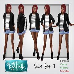 KaTink - Savi Set 1 (Marit (Owner of KaTink)) Tags: katink my60lsecretsale 3dworlds photography 3dphotography poses posing secondlife sl 60l 60lsales 60lsalesinsecondlife