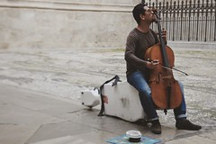 Street Sound (Uxía Vila) Tags: cello music street art people granada violoncello