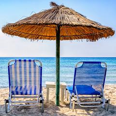 Sunbeds (Kevin R Thornton) Tags: greece d90 mediterranean parasporosbay nikon sunbeds travel paros parasporos egeo gr