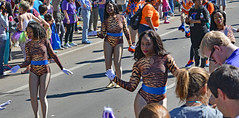 Tigers Dancing (BKHagar *Kim*) Tags: bkhagar mardigras neworleans nola la parade day daytime outdoor street napoleon people crowd celebration carnival party uptown