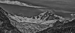Lithographie des Alpes (N/B)