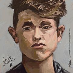 Jacob Sartorius daily doodle portrait (Howie Green) Tags: jacob sartorius daily doodle portrait painting