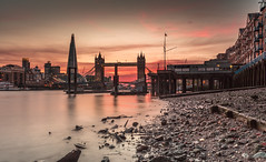 Dirty Old River... (Jerry Fryer) Tags: london riverthames towerbridge shard sunset twilight dirtyoldriver downdirty talesfromtheriverbank lowtide beach clouds 5dsr canon ef1635mmf4l