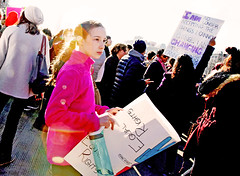 I Am No Longer Accepting the Things I Cannot Change.  I Am Changing the Things I Cannot Accept. (kirstiecat) Tags: cinematiclensflare iamnolongeracceptingthethingsicannotchangeiamchangingthethingsicannotaccept chicago canon womensmarch feminism women girls daughter sister mothers street march lensflare cinematic crowd protest signs activism politics liberal impeachtrump trumpmustgo flare