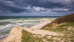 windy day at the seaside (hjuengst) Tags: windy clouds balticsea beach wave shore ahrenshoop dars zingst