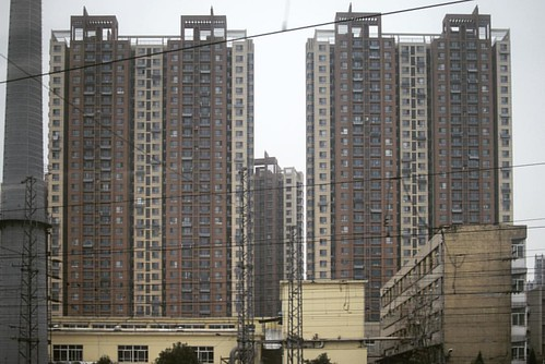 Severe architecture. This is in Jinan, the capital of Shandong province. Not for the faint of heart.