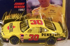 #13-25(D), Johnny Benson, Signing, #13-25, Hot Wheels, 1997, Pro Racing, 1st Edition, NASCAR, #30, Pennzoil, BP, (Picture Proof Autographs) Tags: 1325 johnnybenson signing hotwheels 1997 proracing 1stedition nascar 30 pennzoil bp picture2 withpictureproofphoto ppp