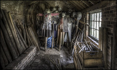 Calke Abbey Scarecrow Storage (Darwinsgift) Tags: calke abbey derbyshire national trust pc pce nikkor e 19mm f4 nikon d810 hdr photomatix store mushroom house scarecrows scarecrow urbex hdraward