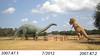 DVSP Brontosaur and Tyrannosaur (baulchtx) Tags: brontosaur tyrannosaur tpwd texas parks wildlife dinosaur valley state park