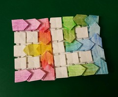 39 (Dasssa) Tags: origami paper paperain tessellation paperfolding 39 painted