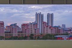 DSC01119-HDR_LR (teckhengwang) Tags: landscape sunrise sun sky singapore hdb