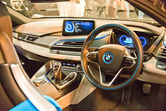 BMWi8.jpg (stevestead) Tags: bmwi8 car classiccar events goodwood goodwoodrevival2016 holiday2016 places sussex dashboard instruments steeringwheel german exotic modern vehicle automobile