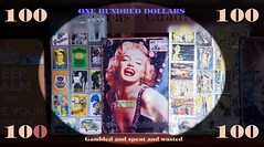 IMG_9853 Gambled and spent and wasted (Rodolfo Frino) Tags: spent wasted monroe 100 dollars note currency girl pretty beautiful marilyn marilynmonroe onesilverdollar lyrics song money classic