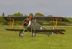 Nieuport 17 (Kev Gregory (General)) Tags: timeline events sunset night shoot stow maries great war aerodrome maldon essex world one wwi raf rfc royal flying corp air force kev gregory canon 7d nieuport 17 returns flight line after period over